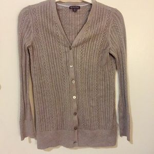 Pointelle cotton sweater. Perfect for layering!
